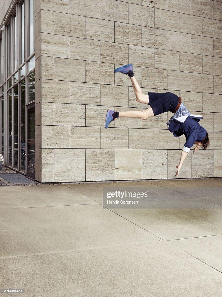 Man Falling : Stock Photo