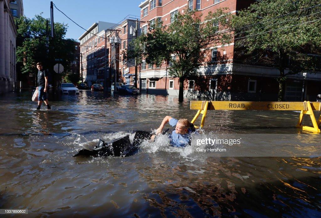 Remnants Of Hurricane Ida Move Through Northeast Causing Widespread Flooding : News Photo