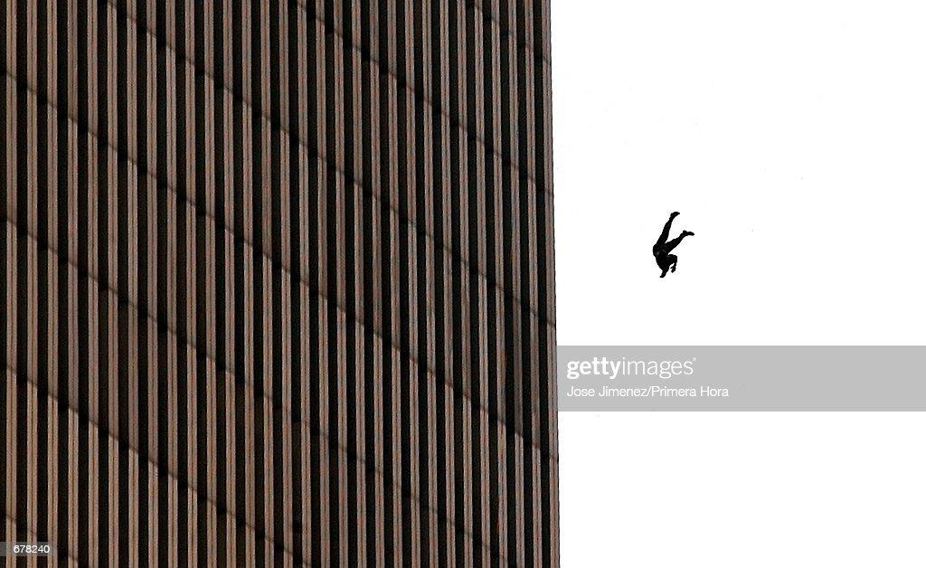 Hijacked Planes Hit World Trade Center : News Photo
