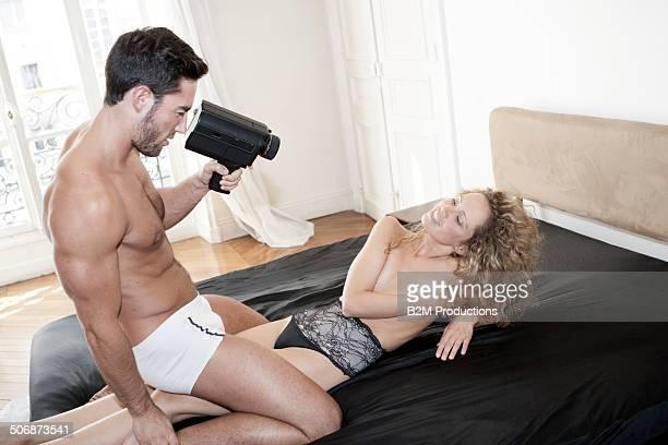 Man filming here girlfriend