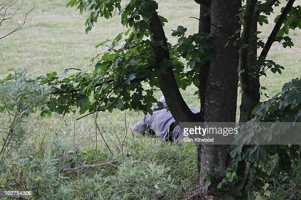 Man fitting the description of fugitive gunman Raoul Moat is seen as Police negotiate with him on July 9, 2010 in Rothbury, England. Police are...
