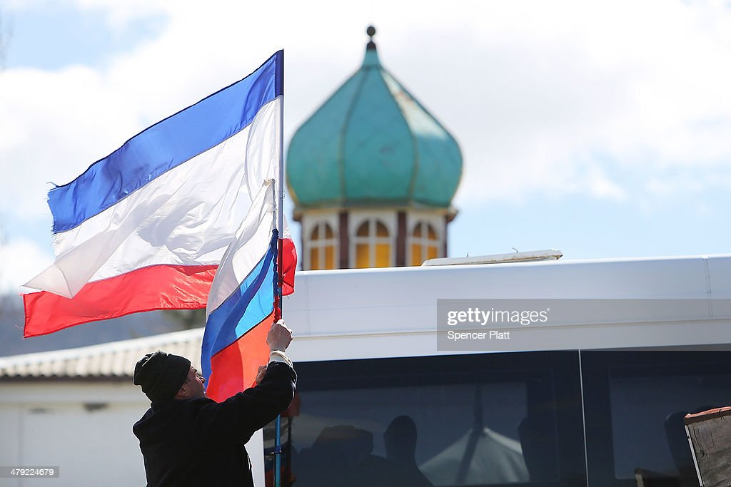 Crimean Parliament Seeks Formal Union With Russia : News Photo