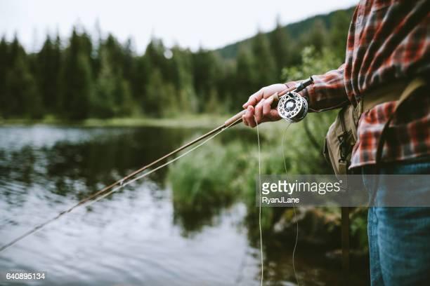 Mann Fliegenfischen