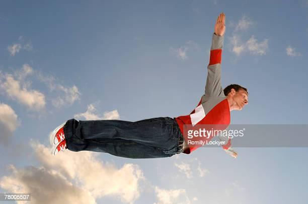 Man flying through the air