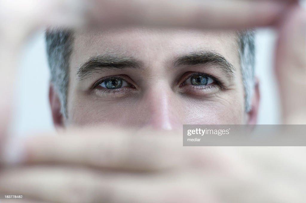 Man Focusing : Stock Photo