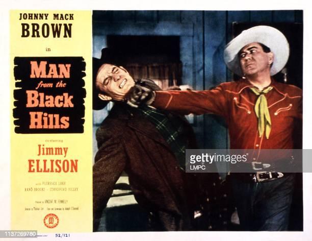 Man From The Black Hills lobbycard Johnny Mack Brown 1952