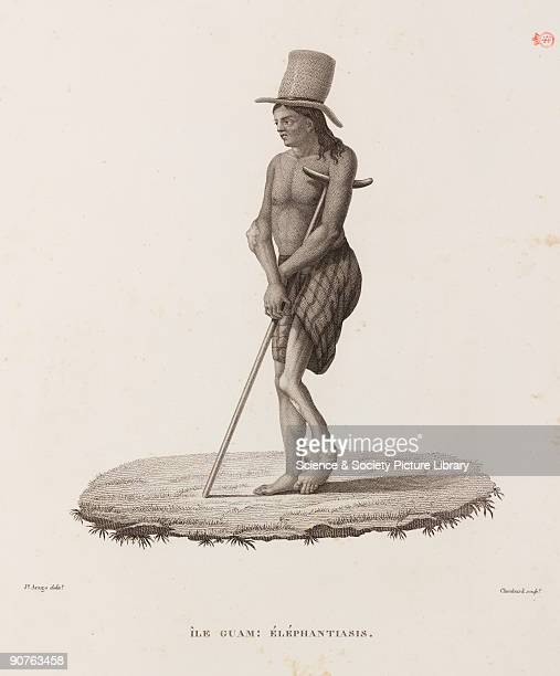 Man from the island of Guam now a dependent state of the USA Illustration from �Voyage autour du monde entrepris par ordre du Roi_execute sur les...