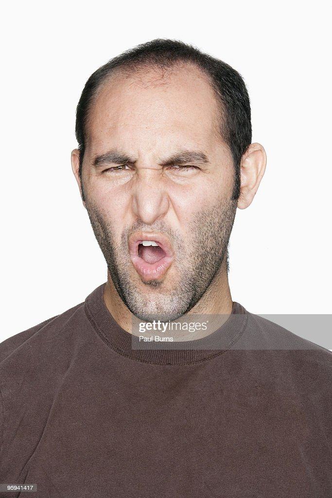 Man frowning : Foto de stock