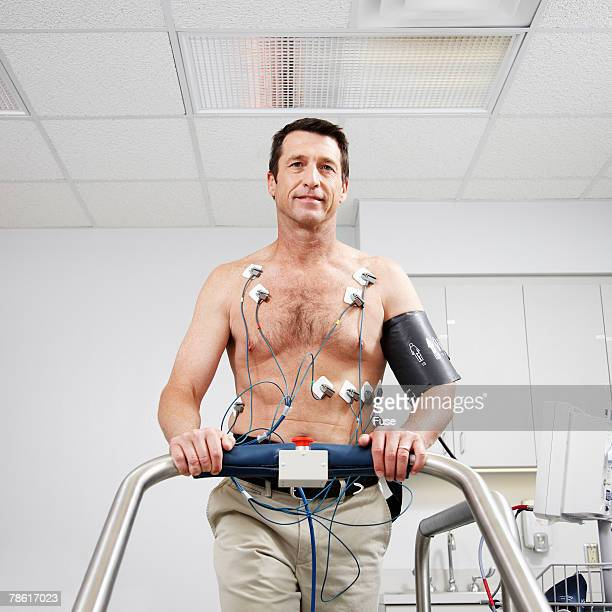 Man Getting Cardiovascular Stress Test