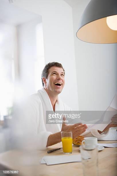 Man getting good news