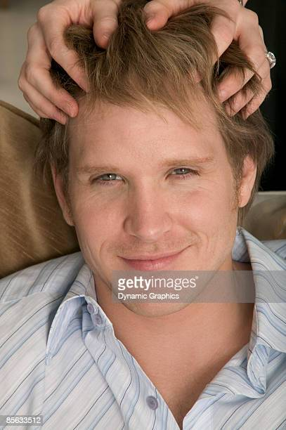 Man getting head massage