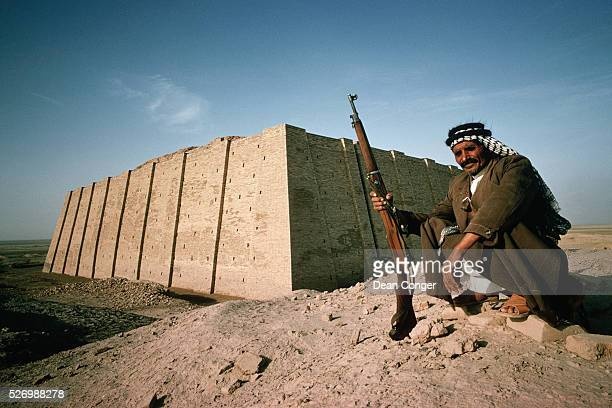 Man Guarding Ziggurat at Ur