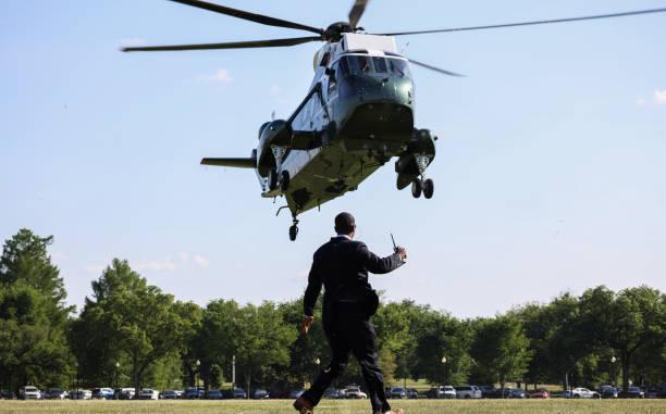 DC: President Biden Returns To White House From Michigan