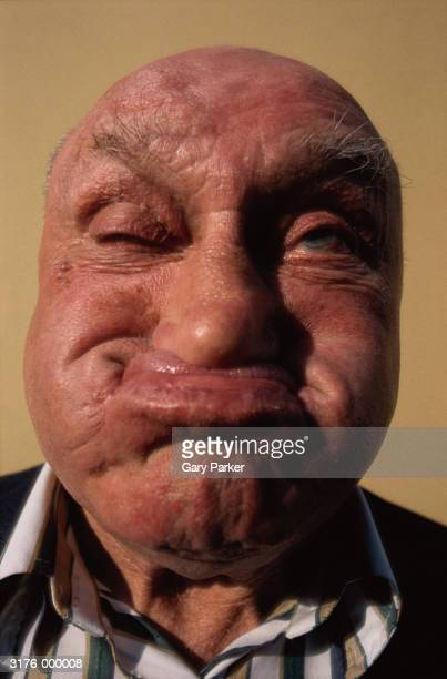 man gurning - ugly bald man stock pictures, royalty-free photos & images