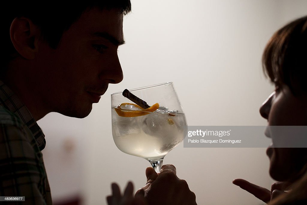 A man has a cocktail during the Mix&Shake congress at 'El Matadero' on April 9, 2014 in Madrid, Spain. Mix&Shake is a conference for professionals of the cocktail bartending industry.