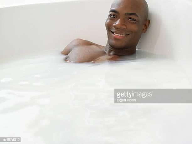 Man Having a Bath