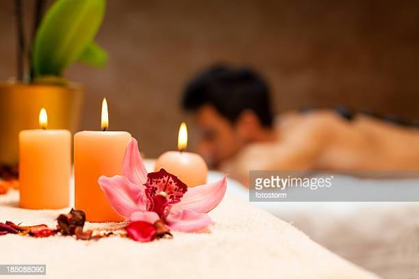 Man having a lastone massage