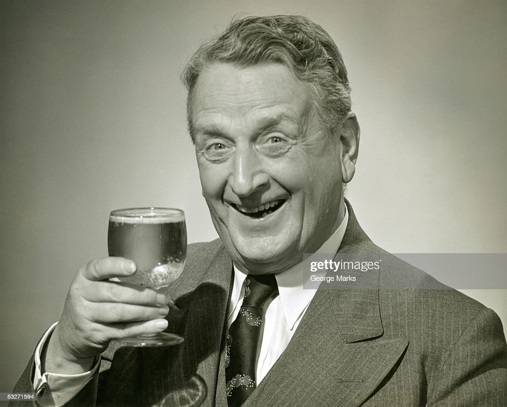 Man having a mixed drink : Stock Photo