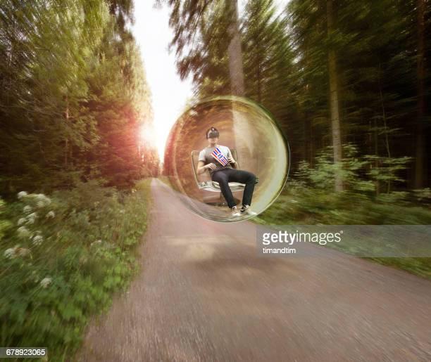 Man having a virtual reality experience