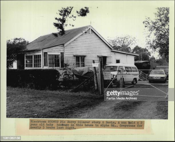A man held a 2 year old baby hostage in this house in Alpha Rd Greystans for nearly 5 hours last night August 02 1985