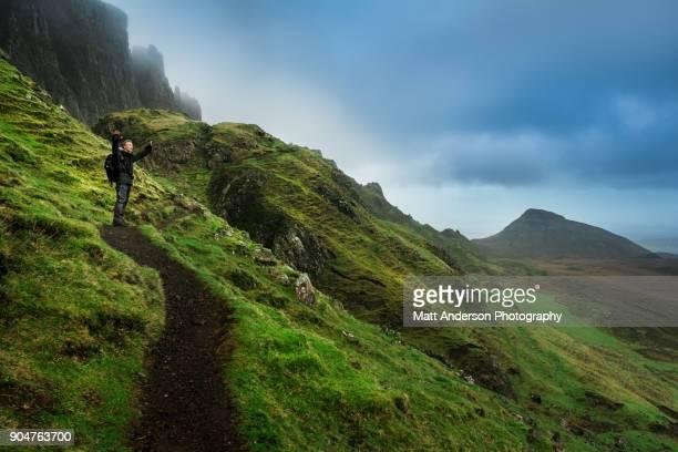Man hiking at The Quiraing Man- Scotland #8