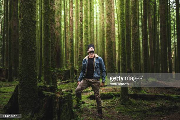 man hiking in british columbia - admiration stock pictures, royalty-free photos & images