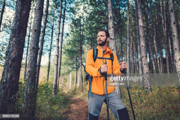 Man hiking in the mountain