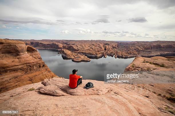 A man hiking in Utah
