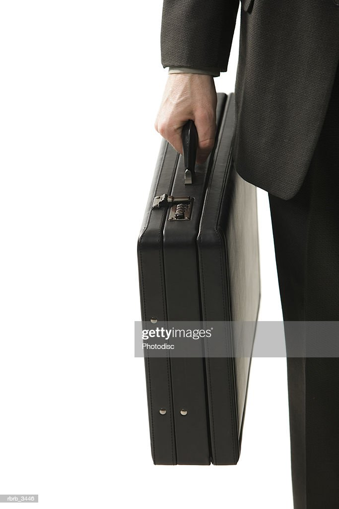 Man holding a briefcase : Foto de stock
