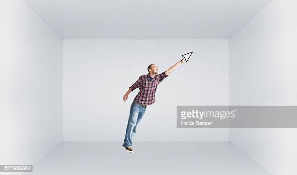 Man holding a cursor