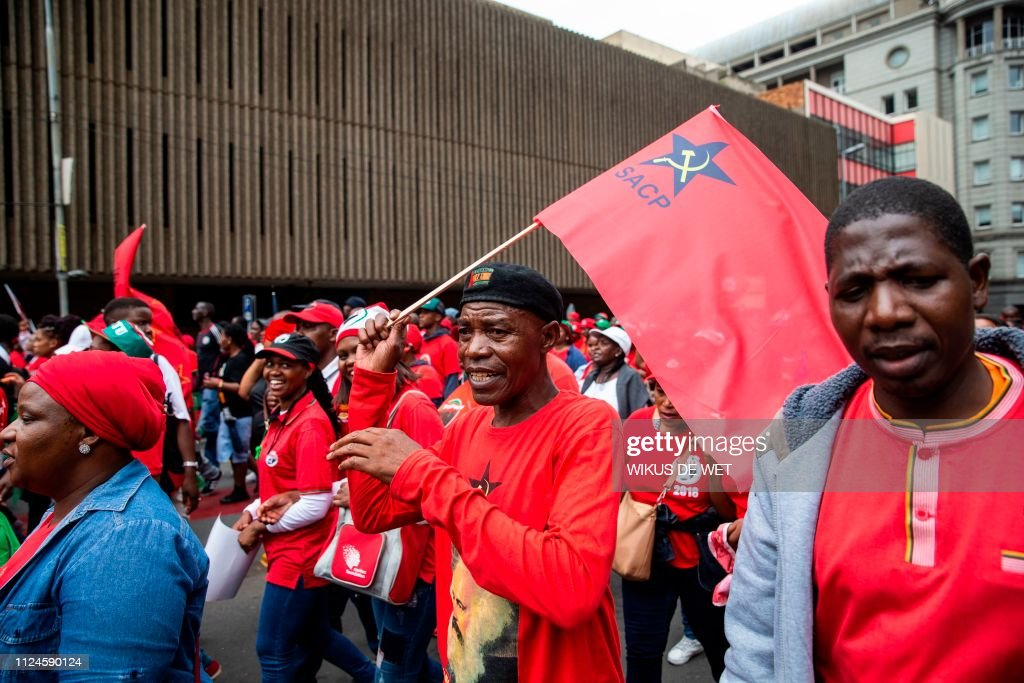 Image result for south africans political parties flags protest marches