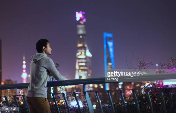 A man holding a smartphone,Shanghai,China