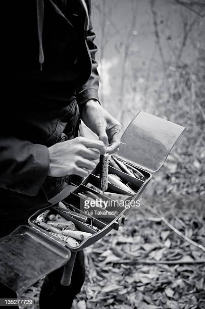 Man holding equipment