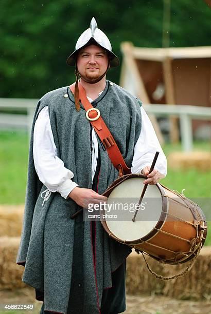 Man Holding Historic Field Drum