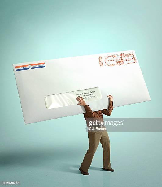 Man holding huge medical bill