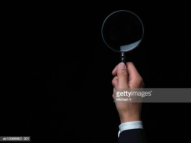 3 898 Magnifying Glass Black Background Photos And Premium High Res Pictures Getty Images