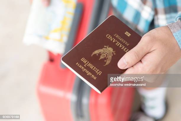 Man holding passport