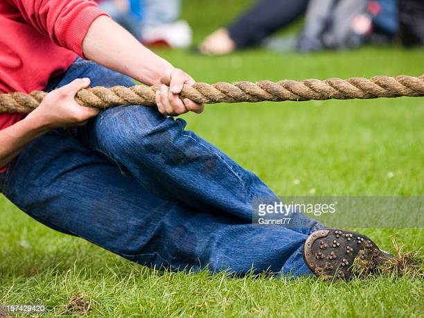 Man holding rope in Tug of War