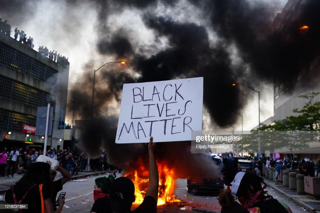 Atlanta Protest Over Police Custody Death Of George Floyd : News Photo
