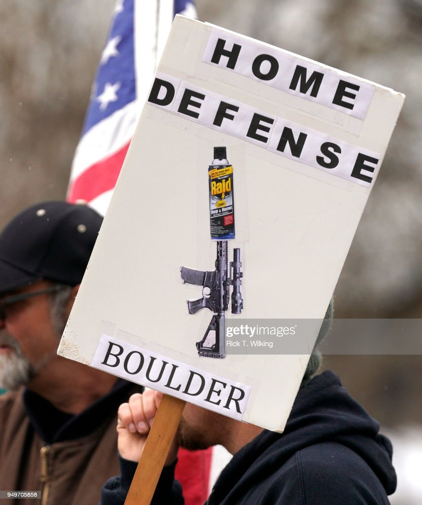 Pro Gun Rally Held In Boulder, Colorado, As City Considers A Local Ban On Assault Weapons