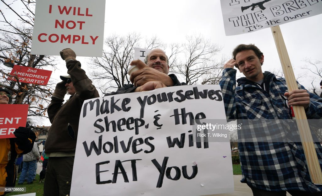 Pro Gun Rally Held In Boulder, Colorado, As City Considers A Local Ban On Assault Weapons : News Photo