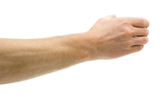 man holds invisible bottle - human hand stock pictures, royalty-free photos & images
