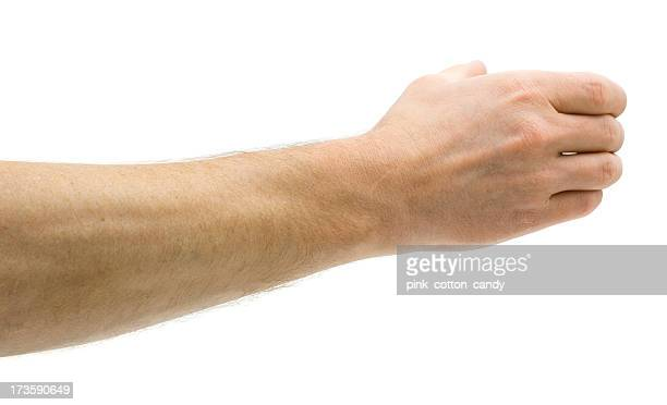 man holds invisible bottle - males stock pictures, royalty-free photos & images