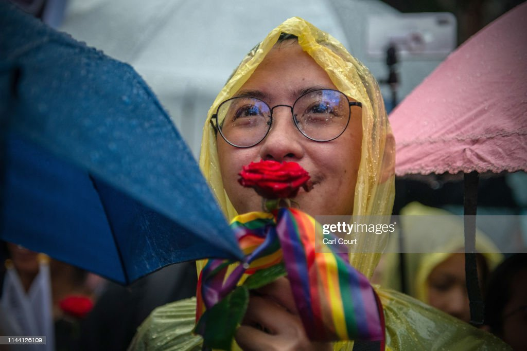 Taiwan Becomes Asia's First Nation To Legalise Same-Sex Marriage : News Photo