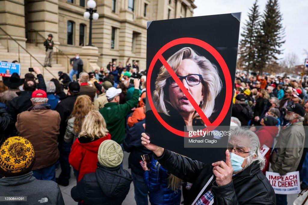 Rep. Matt Gaetz (R-FL) Travels To Wyoming For Rally Against Wyoming Rep. Liz Cheney : News Photo