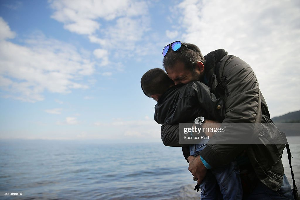 Greek Island Of Lesbos Continues To Recieve Migrants Fleeing Their Countries : News Photo