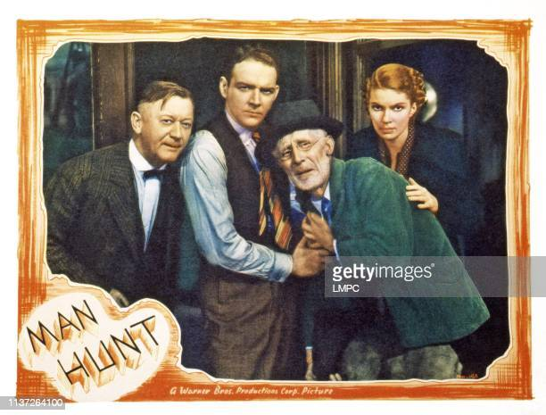Man Hunt US lobbycard left from second left William Gargan Chic Sale Marguerite Churchill 1936