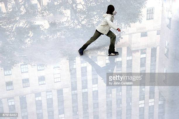 Man ice skating