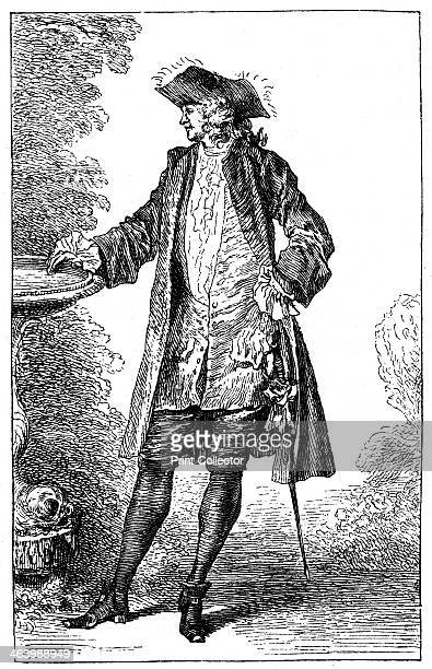 Man in 18thcentury French costume Illustration from 18th Century Institutions Usages And Costumes France 17001789 by Paul Lacroix
