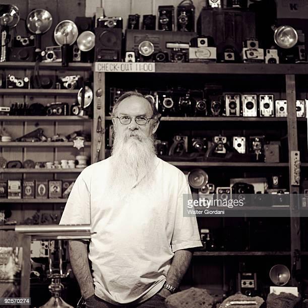 Man in a camera store